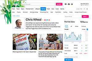 AOL Money Chris Wheal page