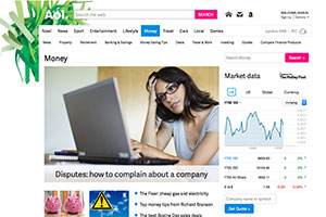 AOL Money website